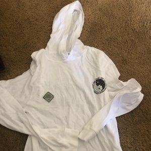 Men's long sleeve shirt with hoodie